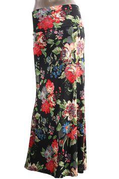 Floral Fancy Maxi Skirt  - Mya Addisyn, LLC I Boutique Clothing & Accessories  - www.MyaAddisyn.com