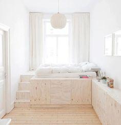 Lovely Minimalist Bedroom  Via: Inthralld