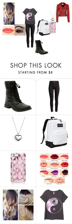 """""""Untitled #72"""" by wndt on Polyvore featuring Pandora, JanSport, Kate Spade, NYX, IRO, women's clothing, women, female, woman and misses"""
