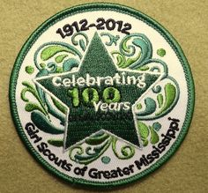 Girl Scouts of Greater Mississippi 100th Anniversary patch. Thank you, Crystal!