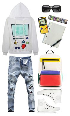 """""""Game over"""" by thestyleartisan ❤ liked on Polyvore featuring Christian Louboutin, Converse, Nintendo, CellPowerCases, women's clothing, women's fashion, women, female, woman and misses"""