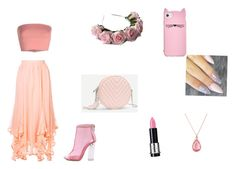 """""""Yaaaaaaaas ! Pink girl mam !"""" by elenaanais on Polyvore featuring Chloé, Annarita N., WithChic, MAKE UP FOR EVER, Latelita, Kate Spade and LOTTA"""