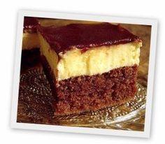 Ingrediente: Pentru pandispan: 4 oua 4 linguri faina 4 linguri zahar 2 linguri cacao 1 praf de copt Pentru prima crema: 500 ml lapte 9 linguri faina 9 linguri zahar 1 plic de zahar vanilat. Romanian Desserts, Romanian Food, Sweets Recipes, Cake Recipes, Cooking Recipes, Italian Cake, Sponge Cake, Food Cakes, Cakes And More