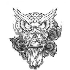 Unique Fashion Removable Owl Tattoo Sticker Waterproof Temporary Tattoos Men Women Leg Arm Body Art Decals [ 1 pc ] exo.nu http://www.amazon.com/dp/B00XMWEQF8/ref=cm_sw_r_pi_dp_2OiVvb1YJNPM6