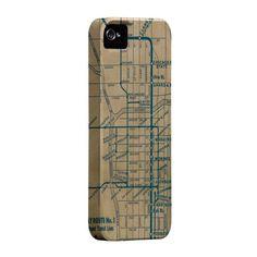 Vintage 'L' Map iPhone Case