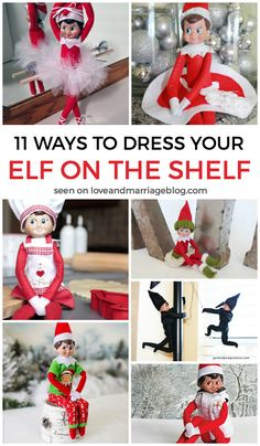 Adorable outfits for your Elf On The Shelf!