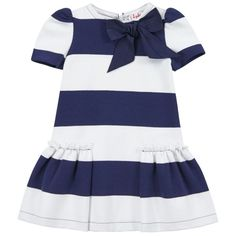 @Il Gufo jersey dress with thick navy blue and white stripes #stripes #ilgufo #SS14 #spring #summer #springsummer2014 #childrens #kids #childrenswear #kidswear #kidsfashion #girls #boys