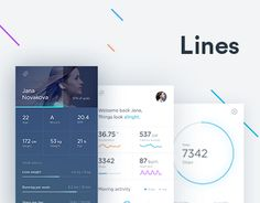 """다음 @Behance 프로젝트 확인: """"Lines activity tracker"""" https://www.behance.net/gallery/40518179/Lines-activity-tracker"""