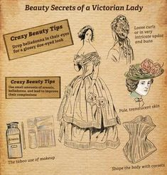 Victorian Era Dresses, Victorian Fashion, Vintage Fashion, Victorian Makeup, Vintage Makeup, Modern Fashion, Vintage Style Wedding Dresses, Vintage Outfits, Fashion Through The Decades