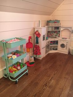 Small Playroom, Toddler Playroom, Playroom Design, Playroom Decor, Playroom Ideas, Playroom Organization, Organizing, Toy Rooms, Little Girl Rooms