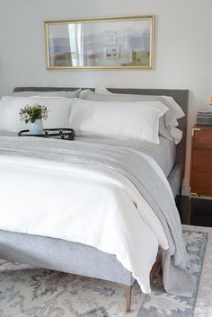 Waffle blanket - lightweight perfect for the spring and summer Snuggling Into Summer With The Best Breezy, Relaxed Linen Bedding Full Bedroom Furniture Sets, Luxury Bedroom Furniture, Bed Furniture, Bedroom Sets, Luxury Bedding, Bedroom Chair, Furniture Dolly, Cheap Furniture, Master Bedroom