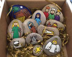 nativity story stones nativity scene di SproutingImagination