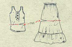 DIY empire waist summer dress Costura, Cosas, Hacer, Remodelar Vestido, Vestido De Costura, Bricolaje De Verano, Trajes De Verano, Tanque De Bricolaje