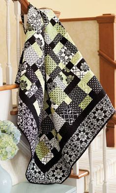 Dressed to the Nines by Jenny Doan from Quilting Quickly Fall 2013 is a throw size quilt pattern which starts with a nine patch quilt block and ends with four blocks.
