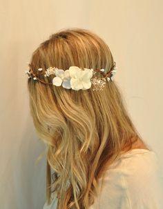 Flower Crown, Woodland Hair Halo    etsy