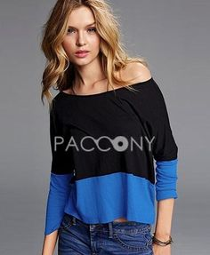 Fast Fashion Dignified Black and Blue Assorted Color T-shirts