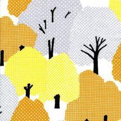『糺の森 平成20年』    世界遺産となっている下鴨神社。  原生林の鎮守の森。  木々がそびえ立っていて、気持ちのいい空間が広がっている。細かい市松や格子柄を使って、葉の濃淡や形の微妙な変化を表現し、豊かで多彩な森の感じが出せればと願った。