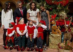 55 Incredible Images Of The World Celebrating Christmas Malia Obama, Barack Obama, Obama President, Obama Sisters, National Building Museum, Norwegian Christmas, World Images, Folk Costume, Michelle Obama