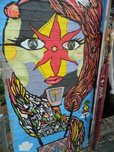 Street Art around Brick Lane in East London. This part of London has always been very diverse and multicultural. Lots of fun street art and some by very famous people. This art is continually changing of course. Street Art London, Brick Lane, East London, Famous People, Heart, Fun, Painting, Brick Road, Painting Art