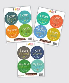 Take a look at this My First Milestone Boy Sticker Set by Lucy Darling on #zulily today!