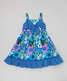 Any little lady will look and feel as fresh as a flower in this delightful dress thanks to its energetic prints and twirly skirt. Stretchy elastic in back allows for quick and easy changes. Frocks For Girls, Kids Frocks, Little Girl Dresses, Girls Dresses, Girl Dress Patterns, Toddler Girl Dresses, Toddler Girls, Baby Sewing, Fashion Kids