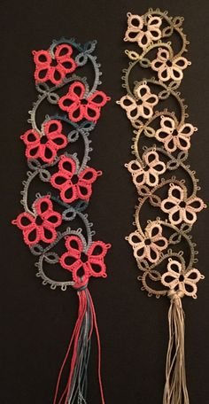 Risultato immagine per Free Tatting Patterns and Images Tatting Armband, Tatting Bracelet, Tatting Earrings, Tatting Jewelry, Tatting Lace, Shuttle Tatting Patterns, Needle Tatting Patterns, Crochet Patterns, Irish Crochet