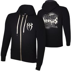"Roman Reigns ""One Versus All"" Unisex Lightweight Full-Zip Hoodie... ❤ liked on Polyvore featuring tops, hoodies, wwe, hooded sweatshirt, zipper hoodie, full zip hoodies, lightweight hoodies and lightweight hoodie"