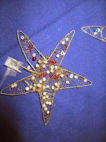 Sterne mit Kindern basteln aus Draht mit Perlen