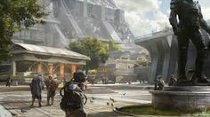 With the release of Rise of Iron, Destiny is now bigger than ever. As is this gallery of the game's concept art, expanded and updated to reflect more of the work of some of the world's best artists. Sci Fi Environment, Environment Design, City Art, Cyberpunk, Rise Of Iron, Science Fiction, Concept Art World, Pokemon, Landscape Concept