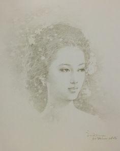 Pencil drawing, 2007, by Chakrabhand Posayakrit, a Thai national artist