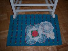 Handmade rug 31x20 by Traincasesandmore on Etsy, $25.00