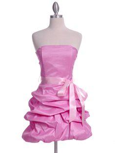Pretty Pink  Bubble Hem Party Dress
