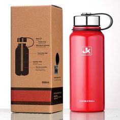 JK Stainless Steel Double Wall Insulation Vaccum Flasks Thermo Travel Water Bottles Sports Kettle