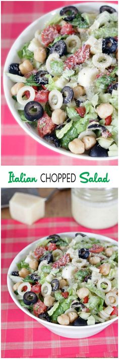 Italian Chopped Salad   All the Italian flavors you love packed into one hearty, delicious salad! {cinnamonspiceandeverythingnice.com}