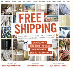 west elm email blast. love the layout.