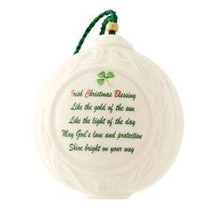 Belleek Irish Christmas Blessing