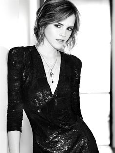 Emma Watson, she's all grown up now.. I still watch her on Harry potter and wow she's changed..