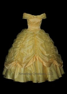 Beauty and the Beast Belle Classic Yellow by NeverbugCreations