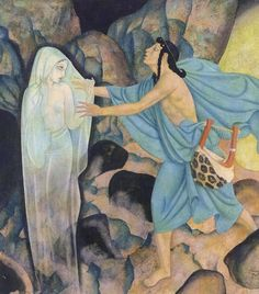 Orpheus and Eurydice - Gods and Mortals in Love by Hugh Ross Williamson, 1935. Illustrated by Edmund Dulac