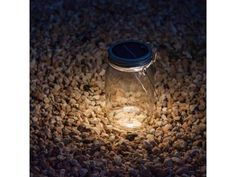 This is pretty cool! not just the Jar but the story behind the Jar! Mason Jar Solar Lights by Consol Solar Jar Mason Jar Solar Lights, Jar Lights, Mason Jar Lamp, Solar Lanterns, Solar Lamp, Diy Solar, Decorative Solar Lights, Mason Jars With Handles, Retro Lampe