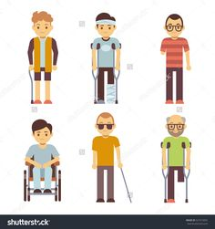 Find Disabled People Vector Set Old Young stock images in HD and millions of other royalty-free stock photos, illustrations and vectors in the Shutterstock collection. Disabled People, Disability, Royalty Free Stock Photos, Pokemon, Family Guy, Illustration, Fictional Characters, Image, Character Ideas