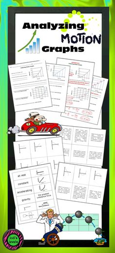 Students will apply what they've learned about force and motion to analyze motion graphs - constant, acceleration, and at rest graphs. Thank you for shopping at Jodi's Jewels!