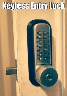 A keyless entry lock is designed for people that don't want to carry a key with them even though it comes with a door knob key in case the code doesn't work. Eagle's Locksmith Cincinnati can supply you this product and install it for you almost on any residential door.