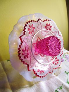 Repuposed  glass garden art by Adelicatetouch1 on Etsy, $30.00