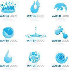 Water and Wave Design Element. Water and Wave Design icons - Vectors , Wave Design, Icon Design, Logo Design, Ideas Para Logos, Logo Vert, Zentangle, Political Logos, Water Icon, Water Logo