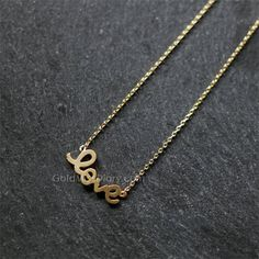Love Necklace/Gold Filled Necklace/ Women's Fashion by MissDiary