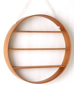 Oak Circle Shelf, three tier - Oiled Finish   Bride & Wolfe