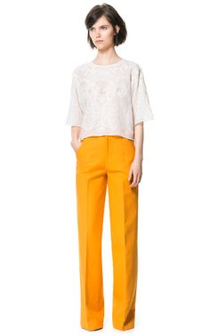 HIGH WAIST TROUSERS - Woman - New this week - ZARA United States