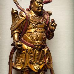 Kuan Ti Wood Figure, 200BC China.