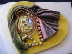 shibori ribbon jewelry - Google Search